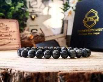Hawks eye gemstone bracelet, Men's gift jewelry, Womens gift jewelry, Beaded gift ideas, High graded beads, Perfect gift ideas