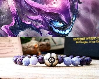 Pokémon, Pokémon Haunter bracelet, Ghost pokémon jewelry, Pokémon jewels, Pokémon gift bracelet, Beaded pokémon bracelet