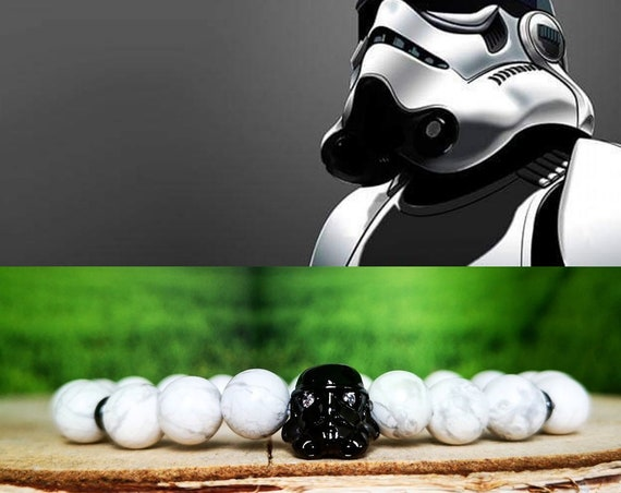 Star Wars beaded bracelet for men and women, Stormtrooper bracelet, White stormtrooper, Star Wars gift, Gift for him and her