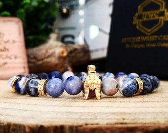 Gladiator helmet bracelet, Helmet bracelet, Beaded gift for men, Bracelet gift idea for men, Beaded gift for him