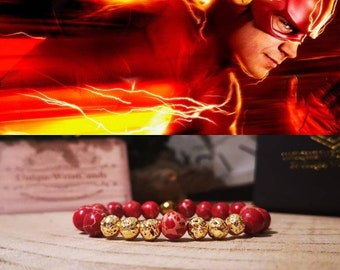The Flash bracelet, DC Comics bracelet, Superhero, Comic bracelet, Perfect gift for him and her, Gift bracelet, Beaded bracelet gift