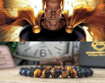 Hyperion Marvel bracelet, Superhero bracelet, Marvel comics bracelet, Marvel jewelry, Gift for Marvel fan, Mens bracelet