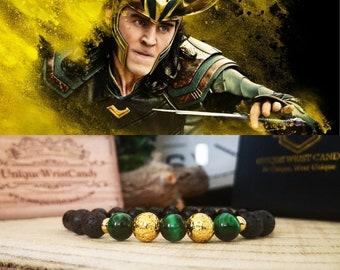 Loki marvel bracelet, Loki jewelry, Marvel gift for men, Marvel jewelry, Avengers bracelet, Avengers jewelry, Villain Loki