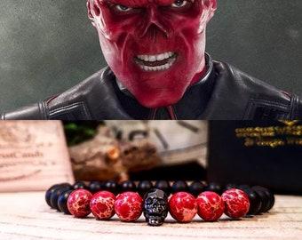Red Skull Marvel bracelet, Captain America, Hydra bracelet, Marvel comics bracelet, Red Skull Vormir, Avengers endgame, Marvel jewelry