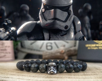 Star Wars bracelet, Stormtrooper bangle, Star Wars jewelry, Star Wars gift, Movie bracelet, Bracelet for men and women