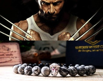 Wolverine bracelet, Wolf bracelet for men, Comicon bracelet, X-Men jewelry, Marvel bracelet, Marvel comics