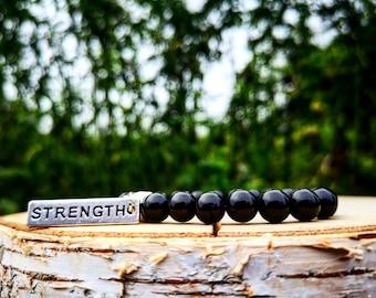 Power bracelet, Fitness bracelet, Gym bracelet, Strength bracelet, Gym gift for him and her, Fitness gift for men and women