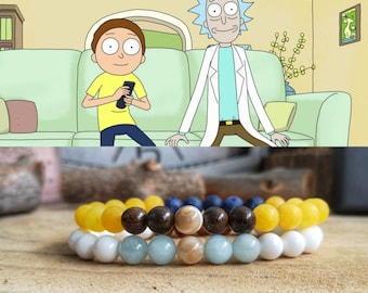 Rick and Morty bracelet, Rick Sanchez, Morty Smith, Combo bracelets, Perfect gift Rick and Morty, Rick and Morty for him and her