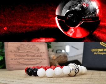 Pokémon beaded bracelet, Pokéball bracelet for men, Perfect gift bracelet for him and her, Women beaded bracelet, Men beaded bracelet