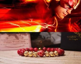 The Flash bracelet, DC Comics bracelet, Superhero, Comic bracelet, Perfect gift for him and her, Gift bracelet, Beaded bracelet gift