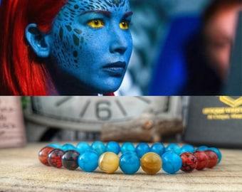 Mystique Marvel bracelet, Superhero bracelet, X-Men jewelry, Movie jewels, Gift bracelet for birthday, Marvel fan gift