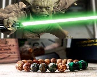 Yoda bracelet, Star Wars bracelet, Star Wars gift, Star Wars jewelry, Jedi bracelet, Star Wars jedi