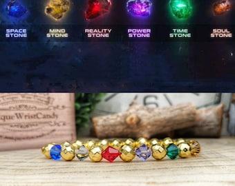 Infinity Stones bracelet, Marvel Infinity Stones, Marvel bracelet, Marvel comics, Space, Mind, Reality, Power, Time, Soul