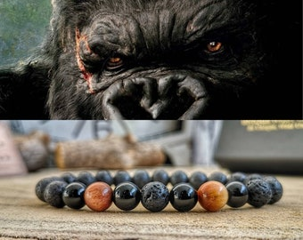 King Kong bracelet, King Kong handmade jewelry, Godzilla vs Kong movie bracelet, Mens perfect gift, Women's perfect gift, Movie bracelet