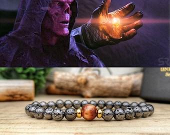 Soul Stone bracelet, Marvel soul infinity bracelet, Gift for him and her, Infinity soul stone bracelet, Marvel comics, Marvel Infinity stone