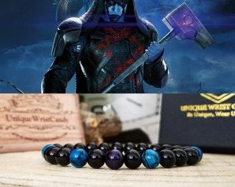 Ronan The Accuser Marvel bracelet for men and women, Marvel comics gift beaded bracelet, Perfect gift jewelry for men and women