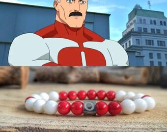 Omni Man comic bracelet, Nolan Grayson bracelet, Invincible jewelry, Comic Nolan Grayson, Omni man, Invincible gift for him and her