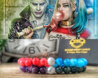 Harley Quinn and The Joker couples bracelets, Couples gift, Dc Comics bracelets, Movie The Joker, Gift idea for him and her