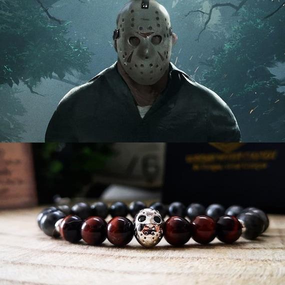 Jason Voorhees bracelet, Halloween bracelet, Halloween jewelry, Horror jewellery, Movie bracelet, Friday the 13th, Perfect gift, Gift ideas