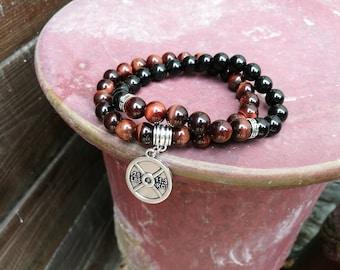 Gym bracelet, Fitness bracelet, Gift for men, Gift for women, Beaded gym bracelet, Tiger eye bracelet, Holiday gift, Fit bracelet