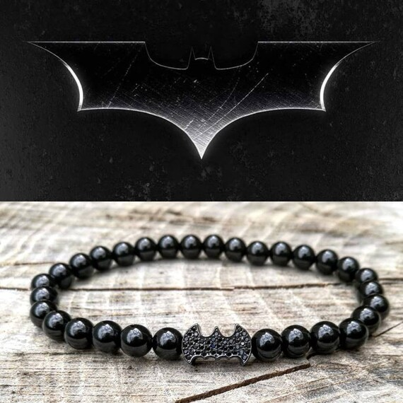 Batman bracelet, DC Comics bracelet, Men's bracelet, Hero bracelet, Gift for him and her, Women batman beaded bracelet, Gift bracelet