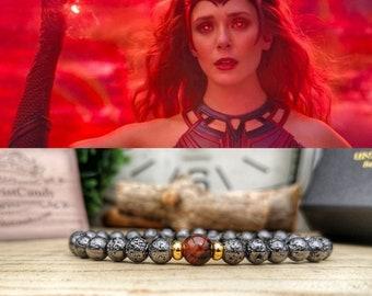 Reality Stone bracelet, Marvel gift for men and women, Infinity mind stone bracelet, Marvel Infinity stones, Marvel comics bracelet