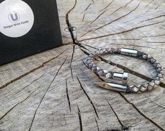 Python nail bracelet, Python bracelet for men and women, Python skin bracelet, Stainless steel nail bracelet, Gift for men and women