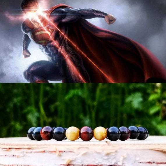SUPERMAN BEADED BRACELET, Dc Comics bracelet, Superhero bracelet, Gift bracelet