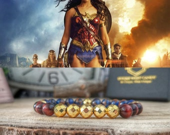 Wonder Woman bracelet, Dc Comics Wonder Woman beaded bracelet, Superhero gift, Dc Comics gift, Wonder Woman jewelry