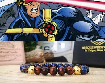 Cyclops Marvel bracelet for men and women, Marvel comics gift beaded bracelet, Perfect gift jewelry for men and women