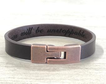 Men's Leather Bracelet Engraved Leather Bracelet Men's Bracelet Man Leather Bracelet Personalized Leather Bracelet,Custom Bracelet For Him