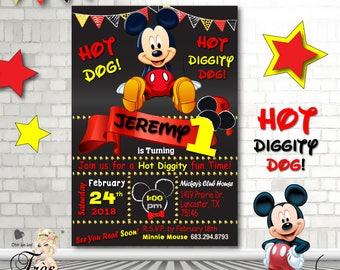 Mickey Mouse Birthday Invitation 1st Birthday Invitation Mickey Mouse 2nd Birthday Invitation Mickey Mouse Party Supplies Mickey3rd Birthday