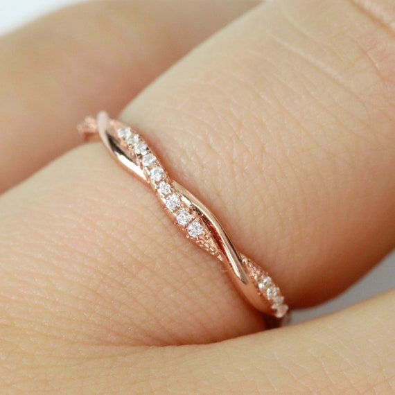 FB Jewels 925 Sterling Silver Stackable Infinity-Inspired Ring