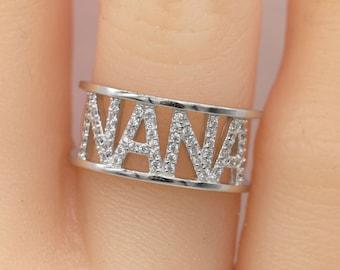 Nana Gift/Sterling Silver Nana Ring/Grandma Gift/Grandmother Gift/Gifts for Grandma/Christmas Gift
