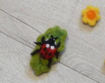 Ladybird brooch, ladybird, Ladybird Pin, Ladybird, Woodland, nature