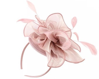 41ad15b9f0f96 Blush fascinator