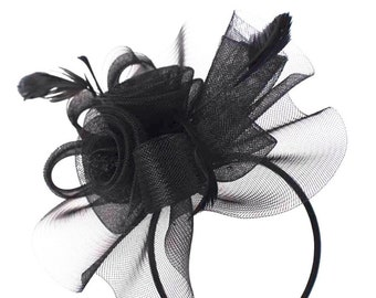 Black fascinator hat ad5f2af8491