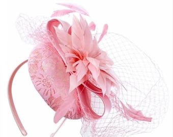 Pink fascinator hat  182e709dcca