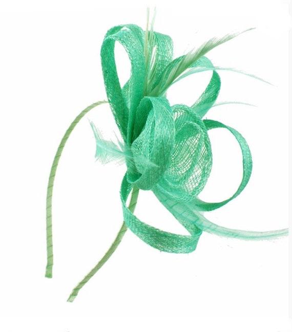 06595145a05 Mint mint green aqua Fascinator Fascinators hat | Etsy
