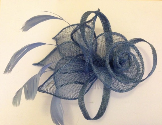 Grey blue silver gray Fascinator fascinators Fascinator  e1360ec2c7b