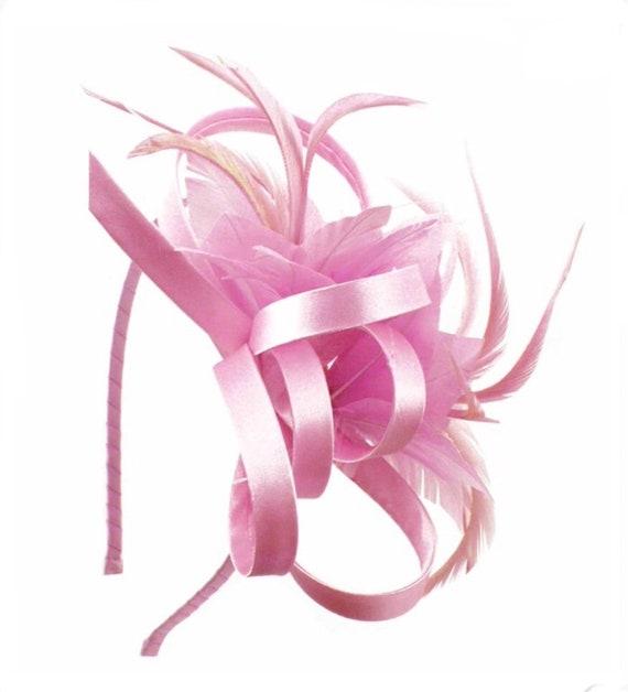 Pink light pink blush baby pink Fascinator hat  c1f95275988