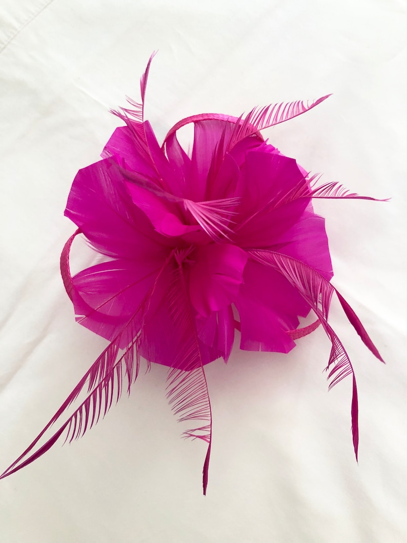 1dcbe74ff7ca7 Hot pink fascinator bright pink fascinator fascinator