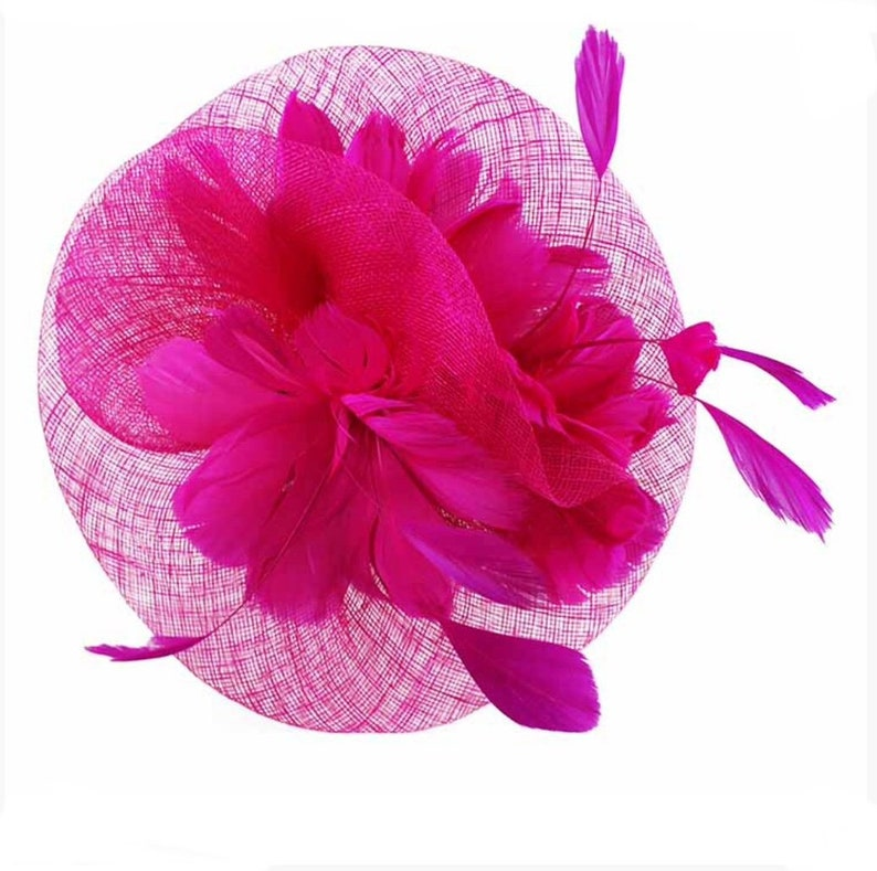 5574abfe3491a Hot pink Fascinator cerise Fascinator Fascinators