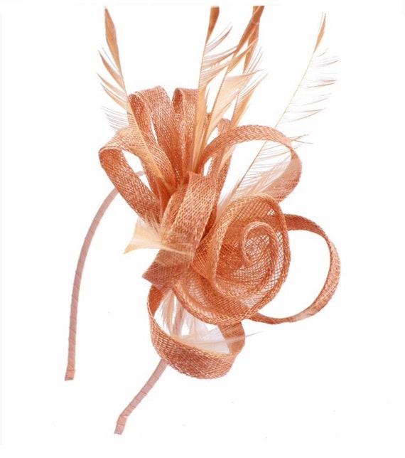 Peach nude beige Fascinator Fascinators hat hatinator  9bd88204c76