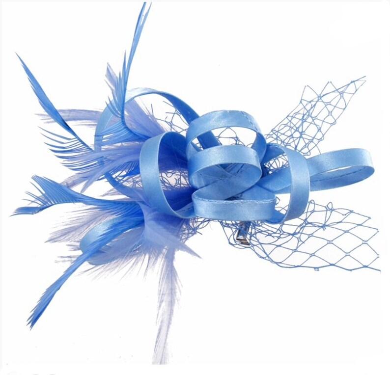 4e77e98f7b1dd Cornflower blue light blue baby blue Fascinator hat