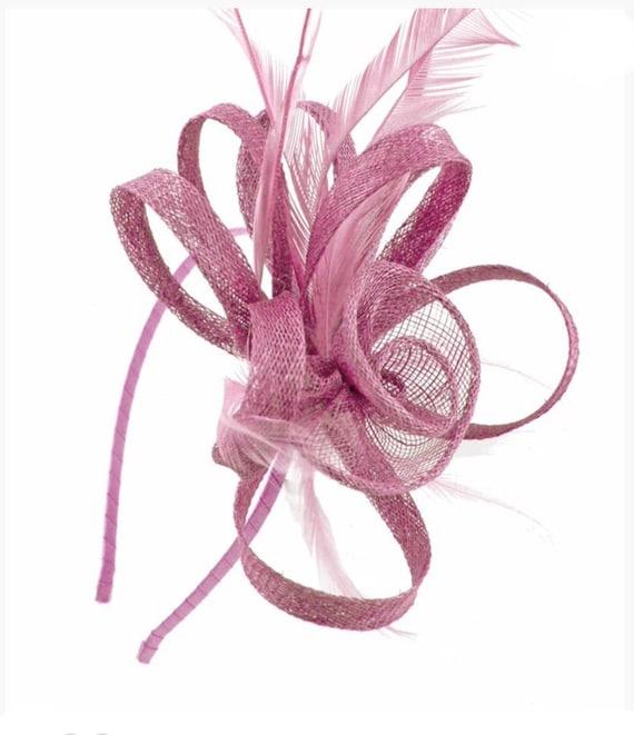 Pink light pink baby pink dusky pink headband Fascinator  94083b915e5