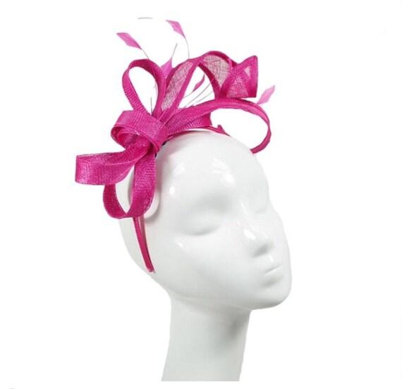 Hot pink pink magenta Fascinator fascinators Fascinator  870120a0e36