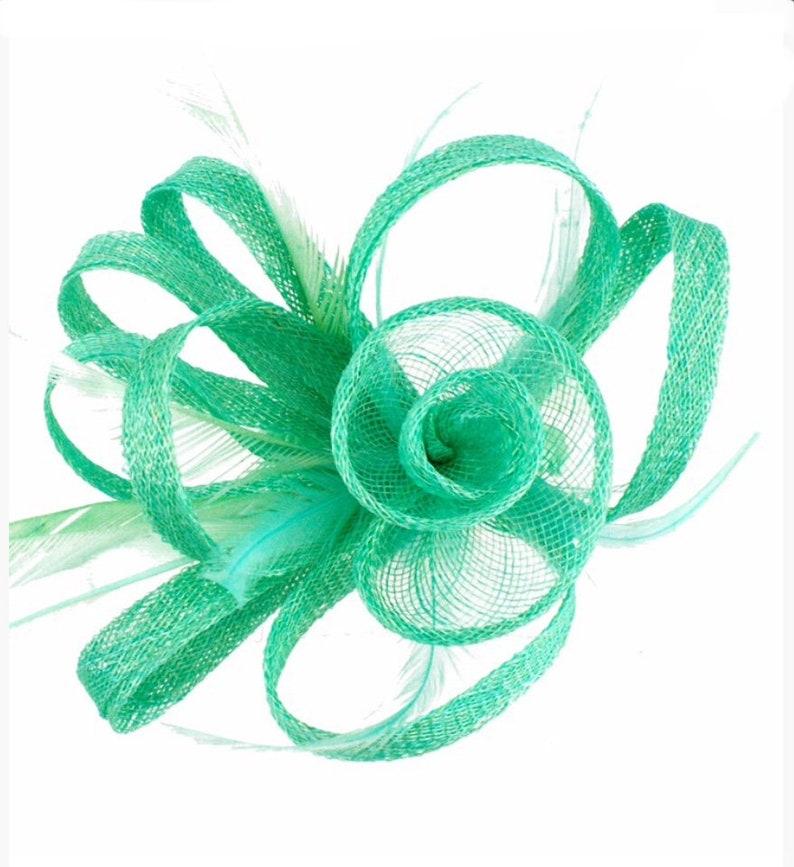 31b194ee0c6 Mint aqua mint green Fascinator Fascinators hat | Etsy
