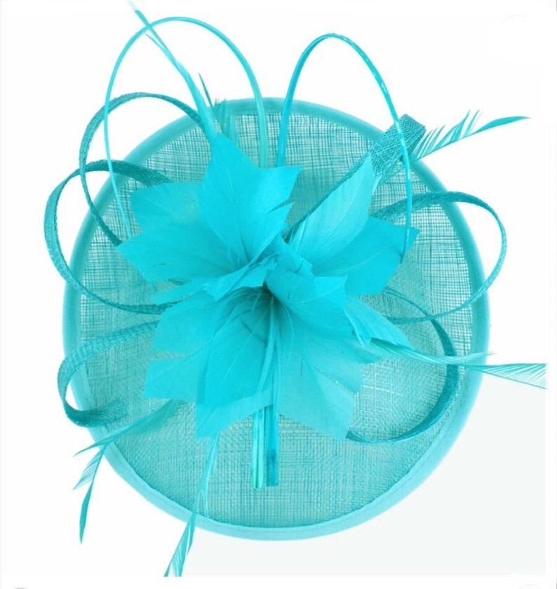 01a7460c45b Aqua mint teal turquoise fascinator Fascinators | Etsy