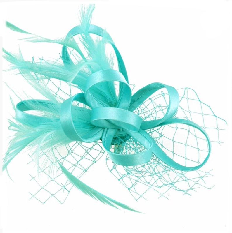 16e2304714a Aqua mint green sea green Fascinator hat Fascinators | Etsy